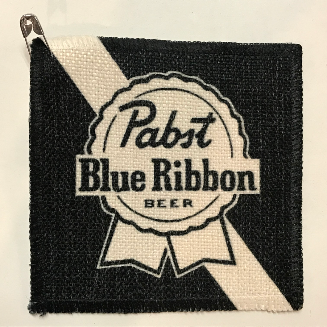 Pabst Blue Ribbon Linen Patch