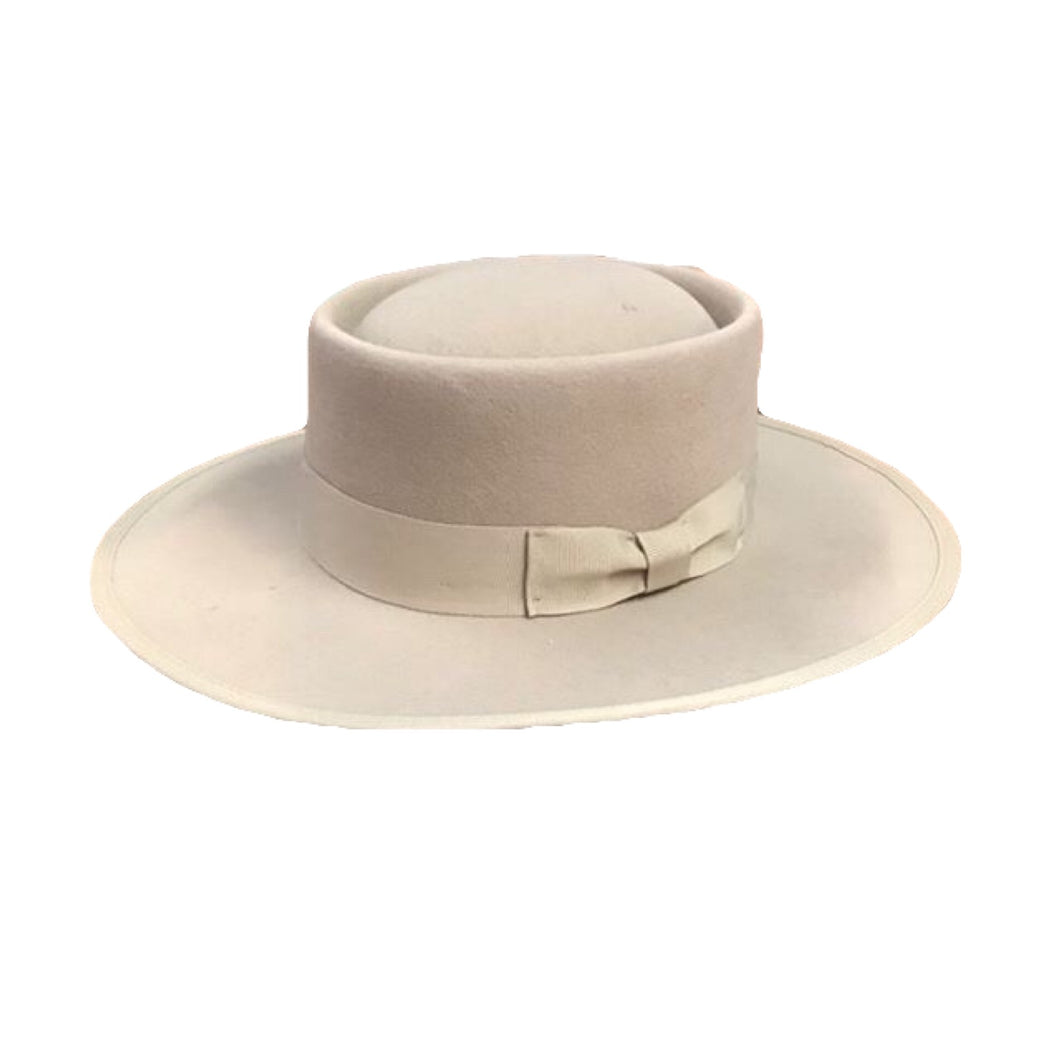 Vida Wide Brim Hat- Tan Wool