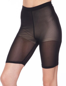 Black Mesh Bike Shorts