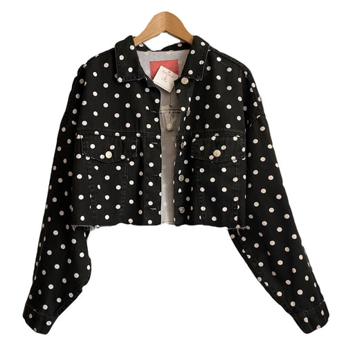 Polkadot denim jacket