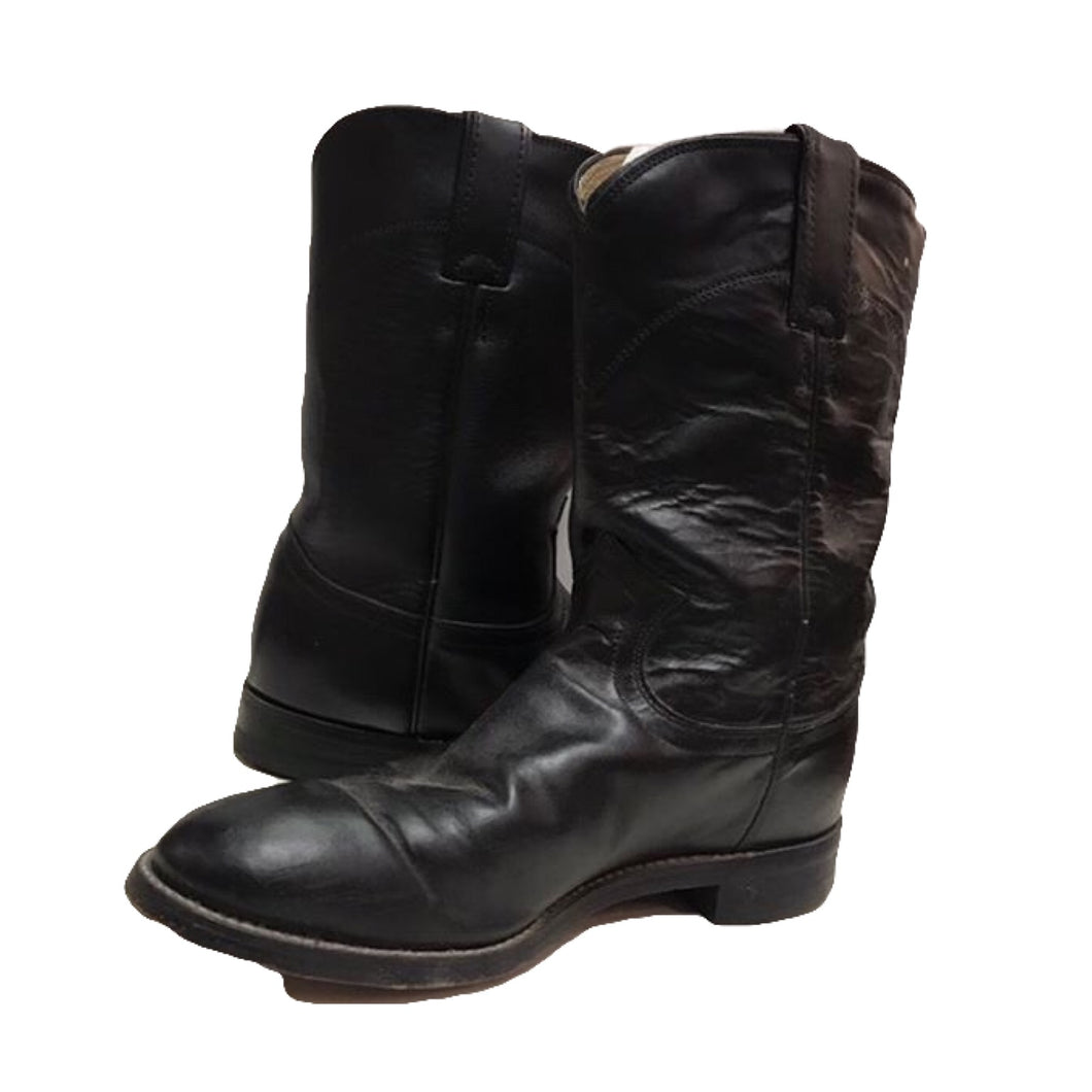 Black Shortie Cowboy Boots