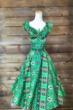 Load image into Gallery viewer, Green Retro Tiki Dress