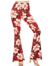 Load image into Gallery viewer, floral bell bottom pants