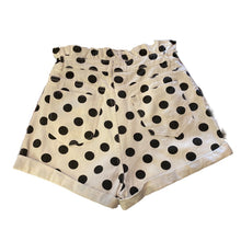 Load image into Gallery viewer, White and Black Polka Dot Shorts