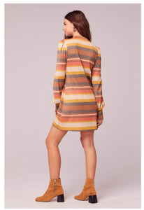 Dazed and Confused Retro Striped Lurex Dress