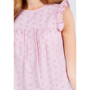 Pink eyelet Cotton top