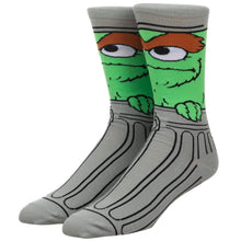 Load image into Gallery viewer, Sesame Street Oscar the Grouch Character Socks