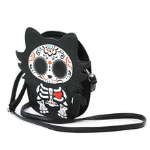 Load image into Gallery viewer, Tattooed Skeleton Kitty Cross Body Purse