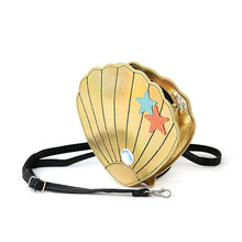 Load image into Gallery viewer, Gold Seashell Cross Body Purse