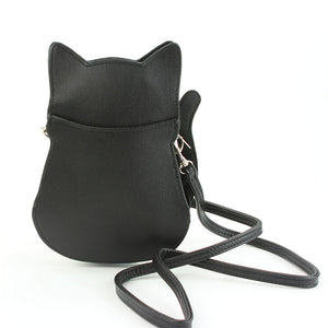 Fancy Black Cat Cross Body Purse