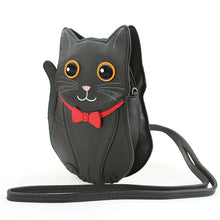 Load image into Gallery viewer, Fancy Black Cat Cross Body Purse