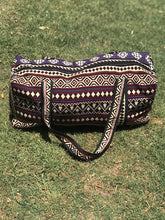Load image into Gallery viewer, Plum Pattern Woven Duffel Bag- Large