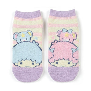 Little Twin Stars Cream and Pink Striped Socks