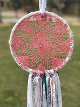 Load image into Gallery viewer, Dream Catchers- Pink Lace and Crochet