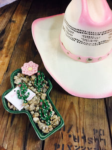 Pink Dusted Cowboy Hat