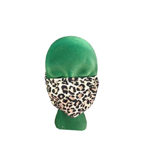 Cartoon Cheetah Print Mask