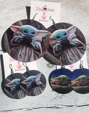 Load image into Gallery viewer, Baby Yoda Earrings