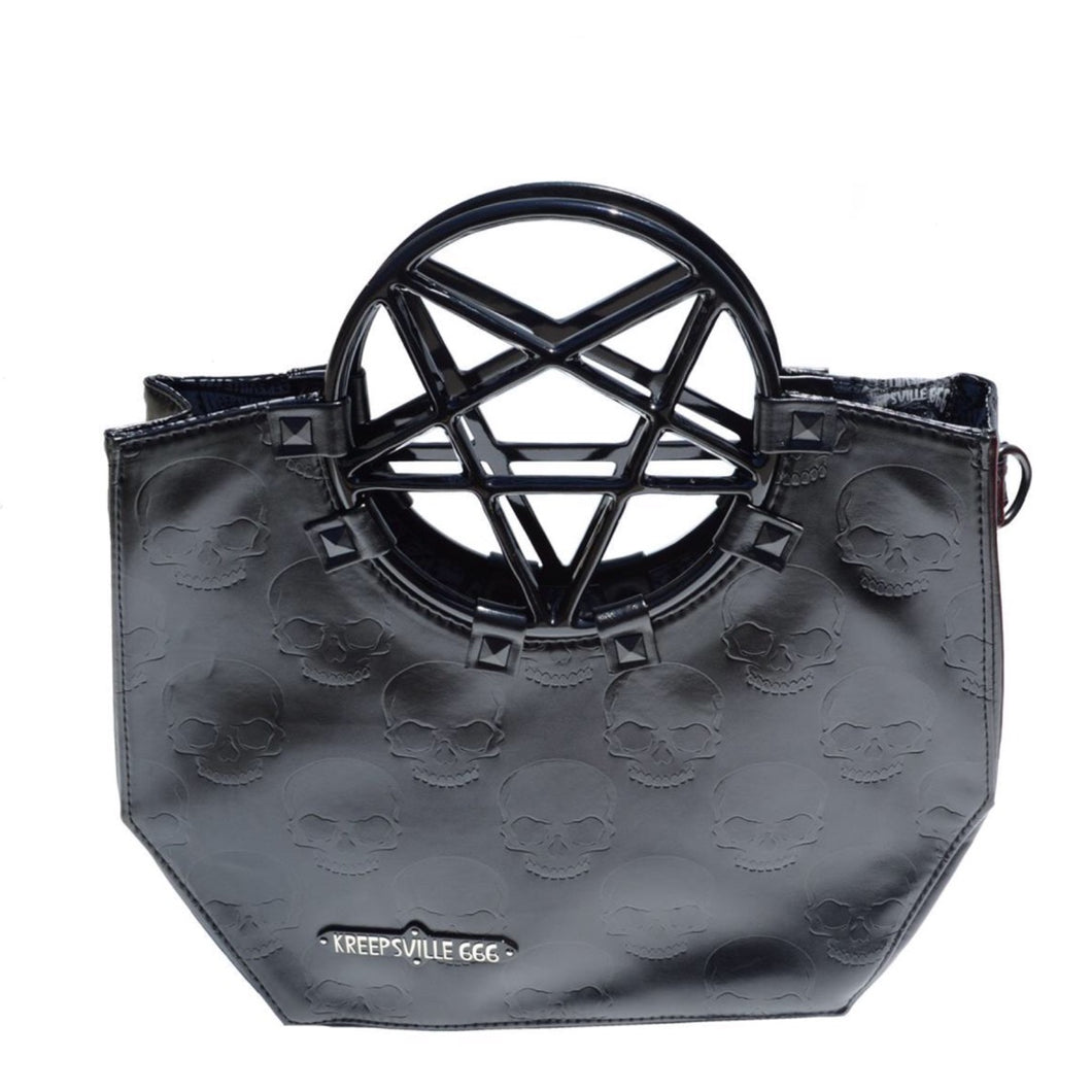 Black Pentagram Handle Purse