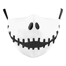 Load image into Gallery viewer, jack skellington washable face mask