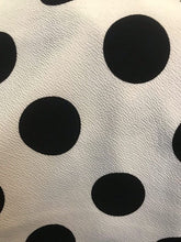 Load image into Gallery viewer, White and Black Polka Dot Wiggle Skirt- Size Medium LAST ONE!