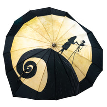 Load image into Gallery viewer, Nightmare Before Christmas Jack and Sally Parasol