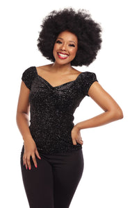 Black Glitter Dolores Top