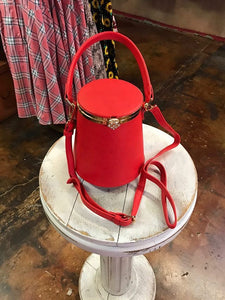 red retro kisslock purse amber joy dice foot
