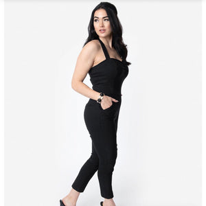 Black Halter Jumpsuit- LAST ONE!