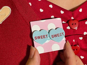 Sweet Candy Heart Stud Earrings