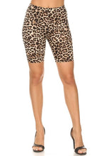 Load image into Gallery viewer, Leopard print bike shorts