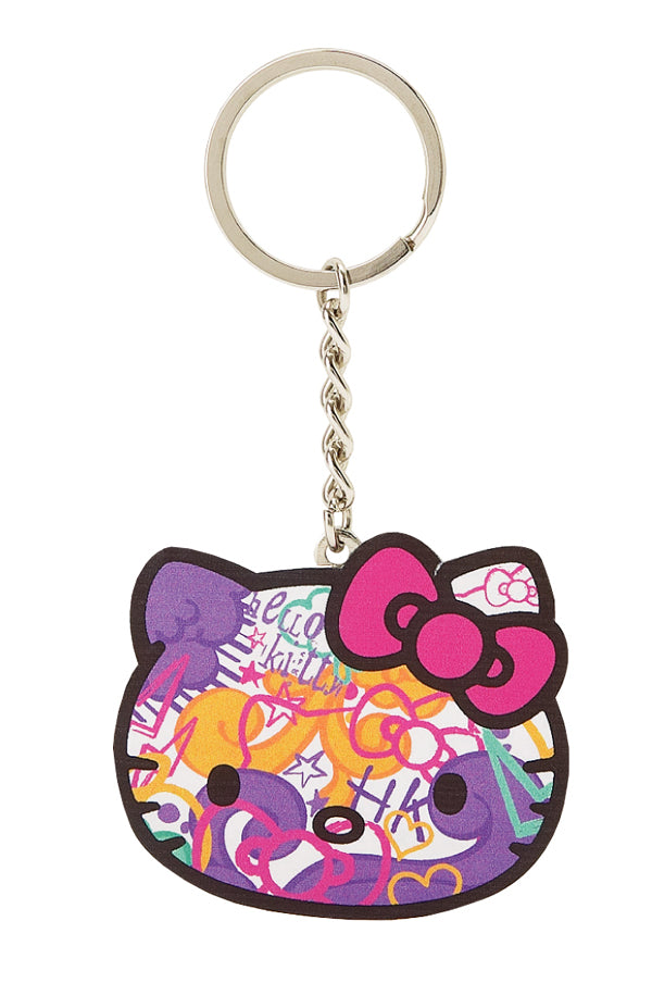 hello ktty graffiti key chain