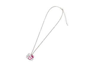 Hello Kitty Crystal Layered Necklace with Heart Charm