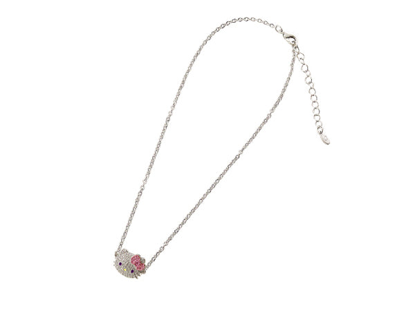 Hello Kitty Large Crystal Necklace with Bow