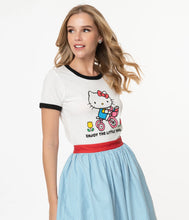 Load image into Gallery viewer, Enjoy the Little Things Hello Kitty Fitted Tee