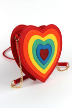 Load image into Gallery viewer, Rainbow Heart Purse- LAST ONE!