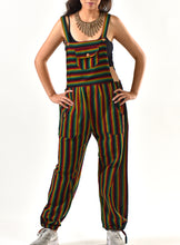 Load image into Gallery viewer, Marley Rasta Striped Overalls