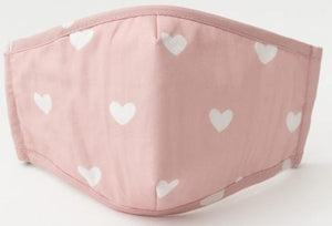 Pink Heart Cotton Mask