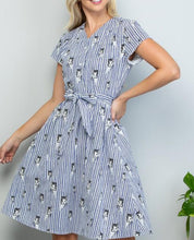Load image into Gallery viewer, Cat Stripe Dress