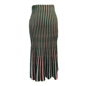 Pink and Green Stripe Gummy Skirt