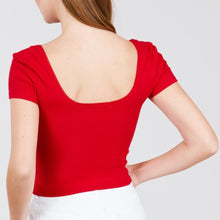 Load image into Gallery viewer, Red Ribbed Crop Top