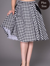 Load image into Gallery viewer, Black Gingham Skirt