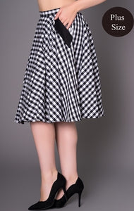 Black Gingham Skirt- SIZE 4XL LAST ONE!