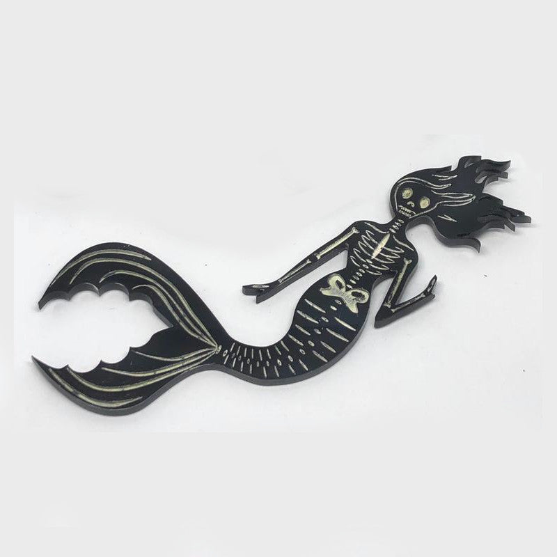 Mermaid Skeleton Brooch