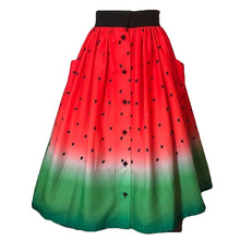 Load image into Gallery viewer, Watermelon Print Swing Skirt