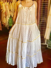 Load image into Gallery viewer, white eyelet maxi dress