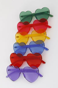 Frameless Heart Sunglasses
