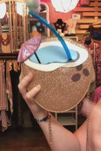 Load and play video in Gallery viewer, Tropical Coconut Drink Cross Body Purse