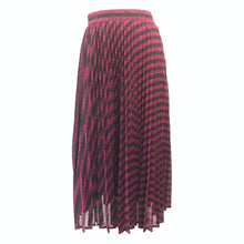 Load image into Gallery viewer, Black and Pink Stripe Maxi Skirt