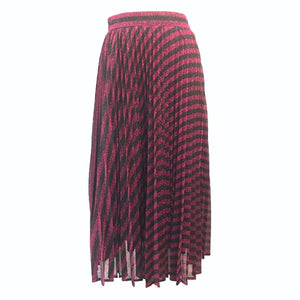 Black and Pink Stripe Maxi Skirt