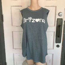 Load image into Gallery viewer, AZ Gray Sleeveless Tee